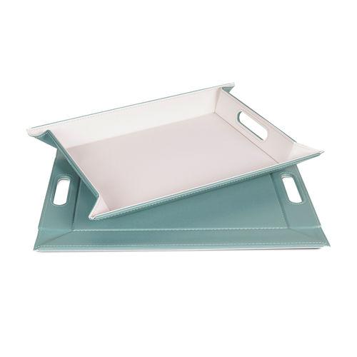 Freeform - Tray - Mint / Ivory - 45 x 35 cm