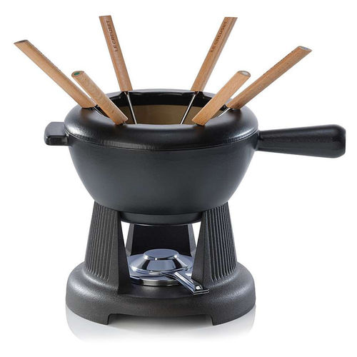 Le Creuset - Cheese & Meat Fondue-Set - Black