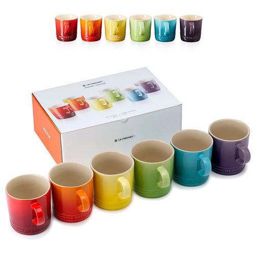 Le Creuset - Mug 350 ml - Set of 6 Rainbow