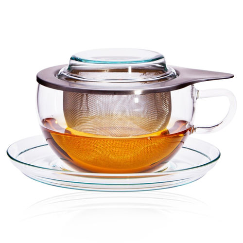 Trendglas Jena - Tea glass with stainless steel filter