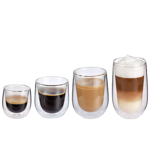 cilio - Double-walled coffee glasses VERONA - set of 2