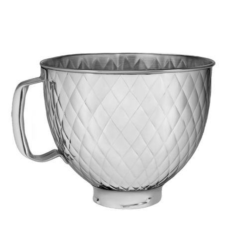 KitchenAid - 4,8 L Quilted stainless steel bowl