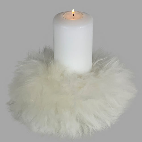 Qult Farluce candle real fur - Merino Lamb Ivory - Tealight