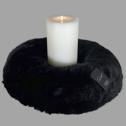 Qult Farluce candle real fur - Milano woven fur black