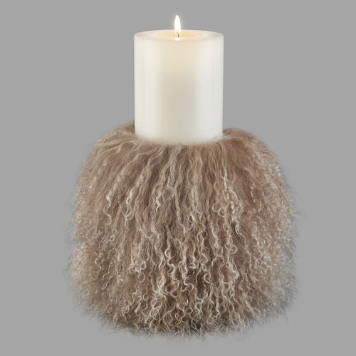 Qult Farluce candle real fur - Tibet Lamp Dove