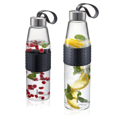 Gefu - Glass drinking bottle OLIMPIO