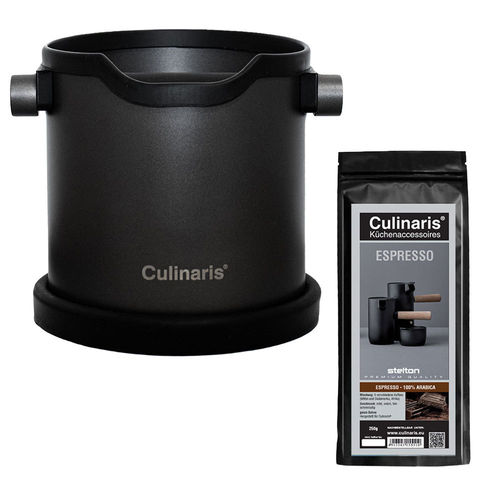 Culinaris - Espresso Knock Box with Culinaris coffee