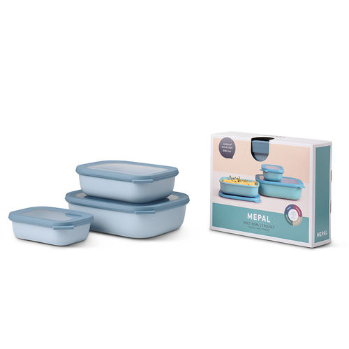 Mepal - Set multi-bowl Cirqula rectangular flat 3-part