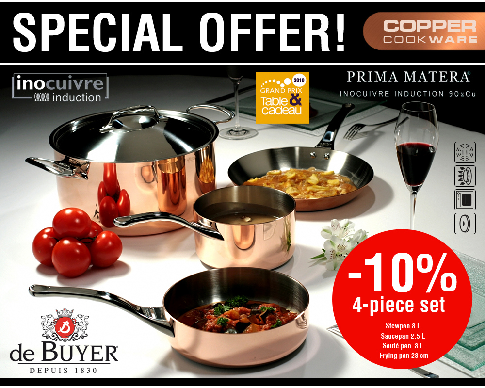 de Buyer - Copper Cookware Set - Prima Matera - You save 10 %