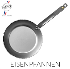 de Buyer - Eisenpfannen - Kochgeschirr aus Eisen - Mineral B Element - Carbone Steel - Force Blue - La Lyonnaise
